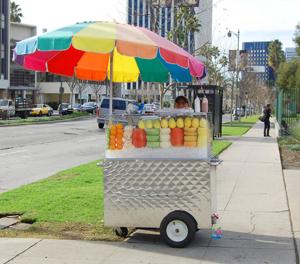 Stainless-steel-food-cart