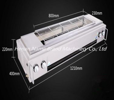 Smokeless gas barbecue oven