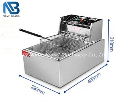 Single cylinder electric fryer pot machine